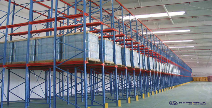 DRIVE-IN OR DRIVE-THRU PALLET RACKING SYSTEM